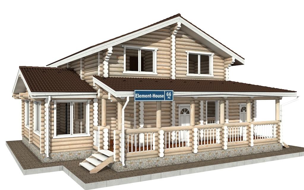 РС-66 - деревянный дома из бревна (из сруба)