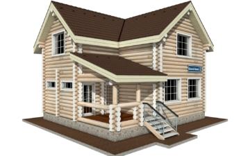 Фото #1: Красивый деревянный дом РС-2 из бревна