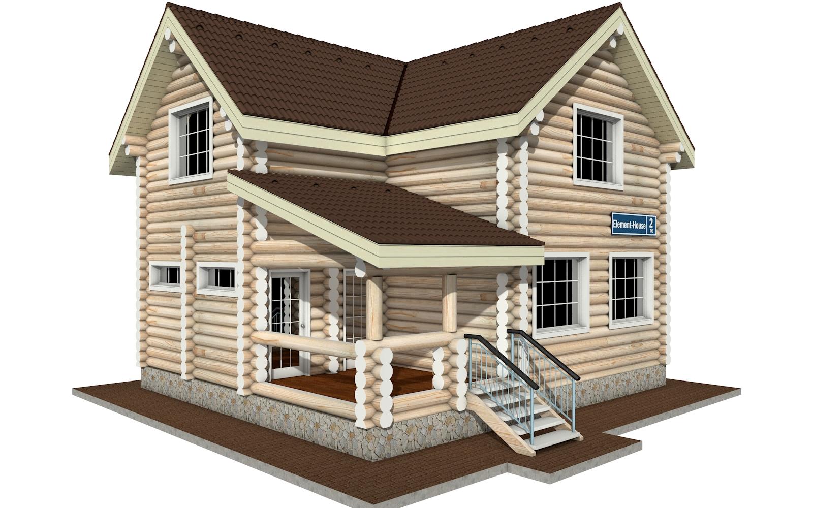 РС-2 - деревянный дома из бревна (из сруба)