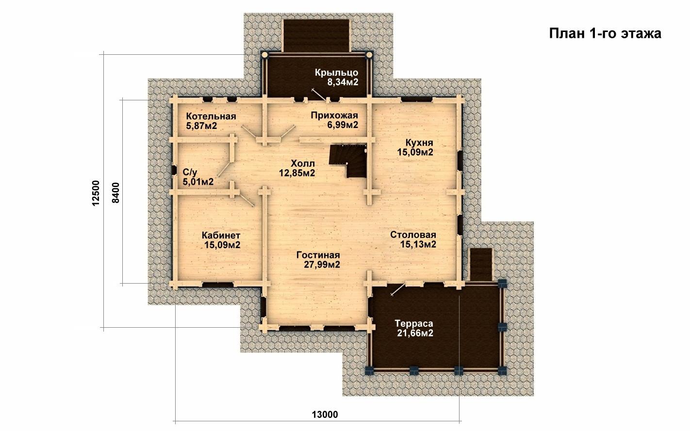 Фото #2: Красивый деревянный дом РС-11 из бревна