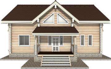 Фото #7: Красивый деревянный дом РС-11 из бревна