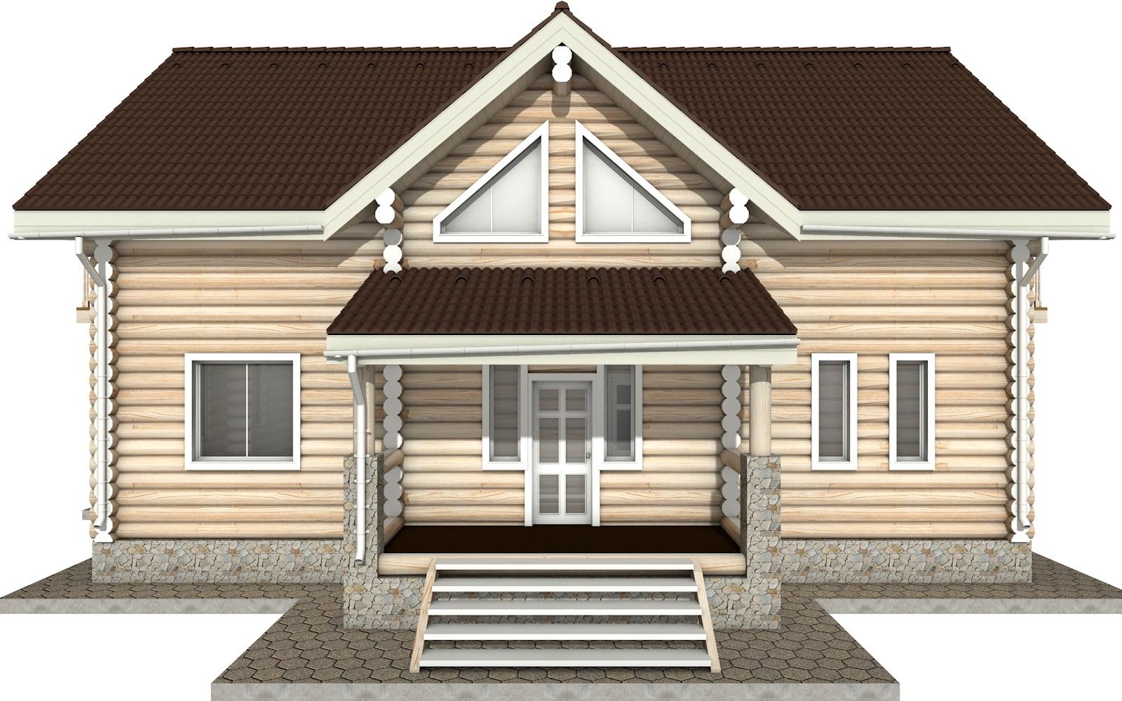 Фото #6: Красивый деревянный дом РС-11 из бревна