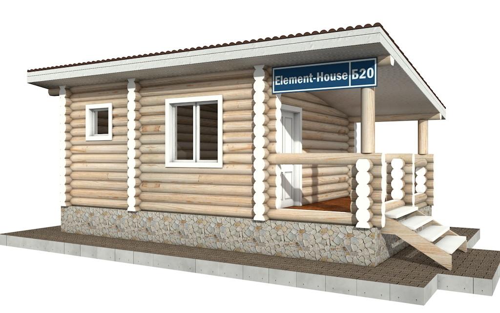 Бр-20 - деревянная рубленная баня из бревна (из сруба)