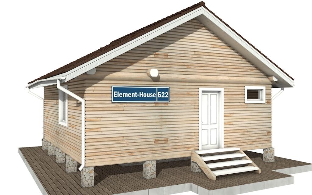 Бр-22 - деревянная рубленная баня из бревна (из сруба)