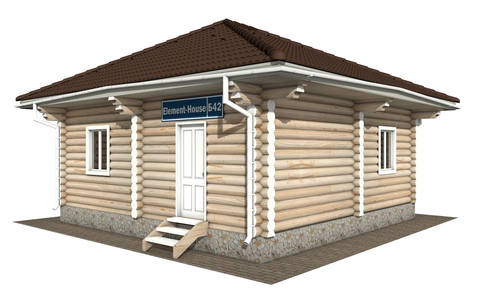 Бр-42 - деревянная рубленная баня из бревна (из сруба)