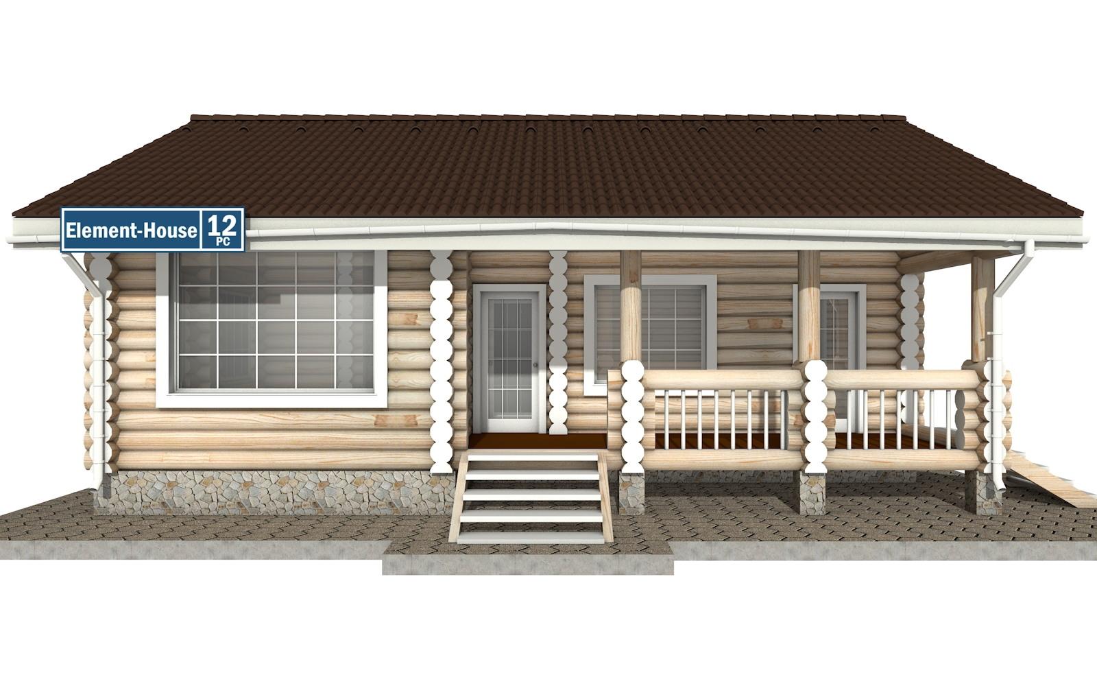 Фото #5: Красивый деревянный дом РС-12 из бревна