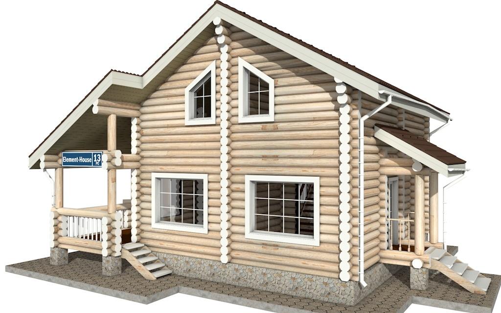 РС-13 - деревянный дома из бревна (из сруба)