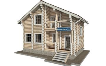 Фото #1: Красивый деревянный дом РС-1 из бревна