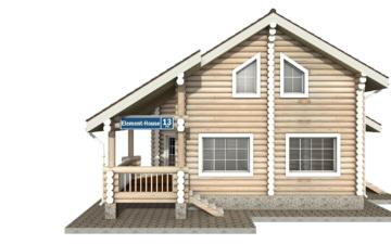 Фото #7: Красивый деревянный дом РС-13 из бревна