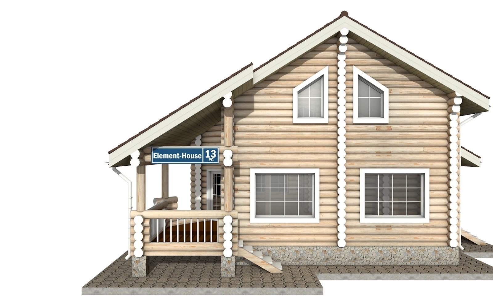 Фото #6: Красивый деревянный дом РС-13 из бревна