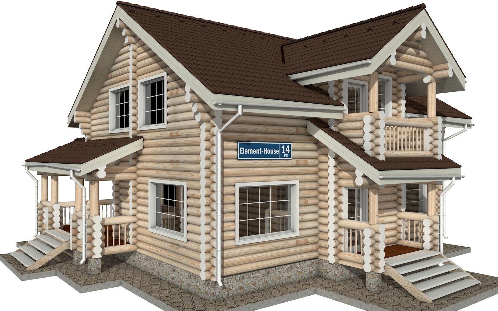 РС-14 - деревянный дома из бревна (из сруба)