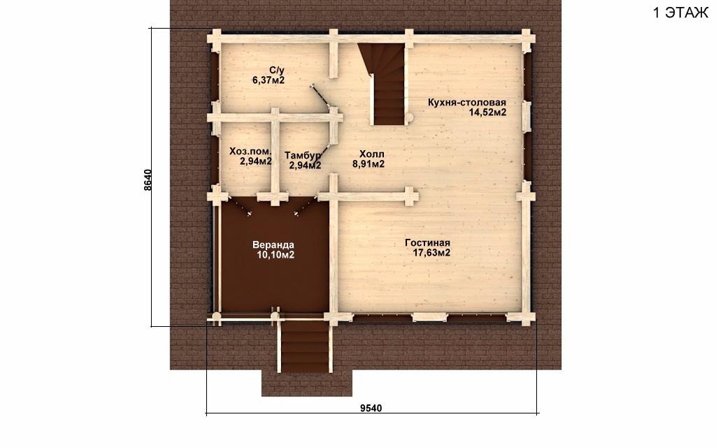 Фото #2: Красивый деревянный дом РС-2 из бревна