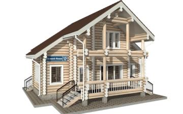 Фото #1: Красивый деревянный дом РС-15 из бревна