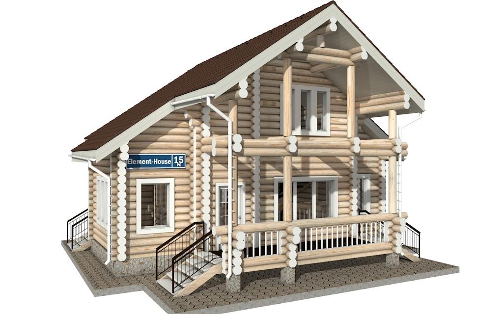 РС-15 - деревянный дома из бревна (из сруба)