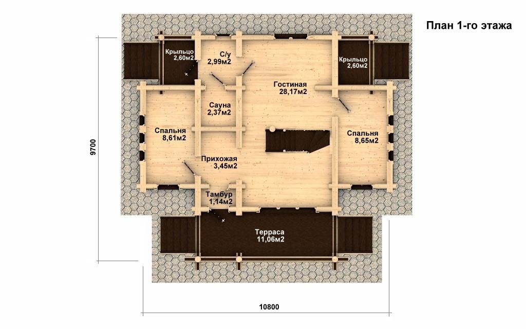 Фото #4: Красивый деревянный дом РС-15 из бревна