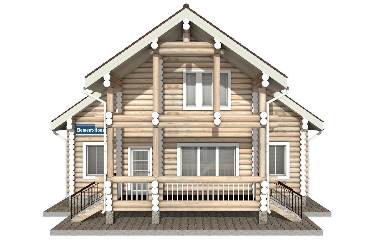 Фото #6: Красивый деревянный дом РС-15 из бревна