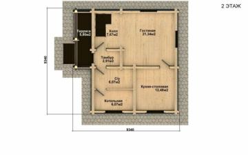 Фото #4: Красивый деревянный дом РС-17 из бревна