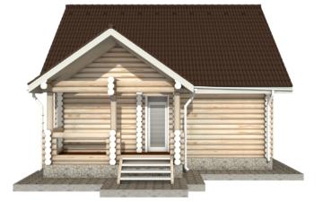 Фото #7: Красивый деревянный дом РС-17 из бревна