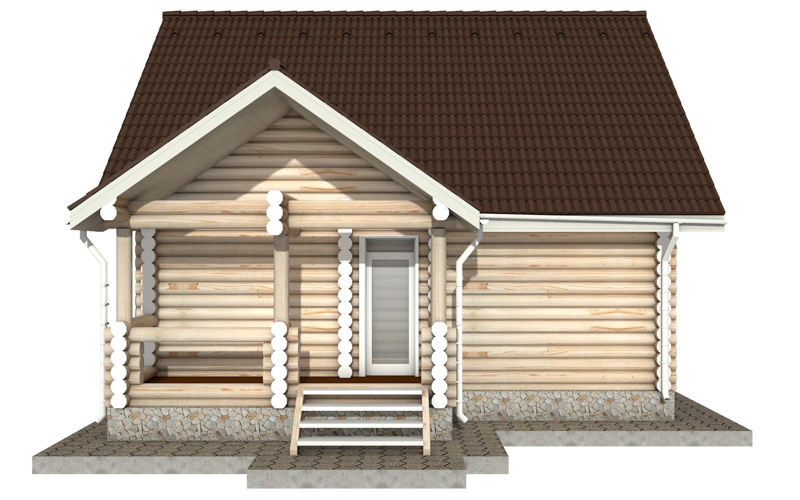 Фото #6: Красивый деревянный дом РС-17 из бревна