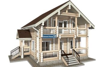 Фото #1: Красивый деревянный дом РС-18 из бревна