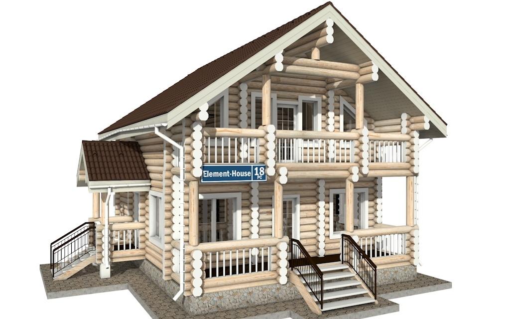 РС-18 - деревянный дома из бревна (из сруба)