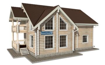 Фото #1: Красивый деревянный дом РС-19 из бревна