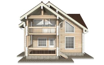 Фото #7: Красивый деревянный дом РС-19 из бревна
