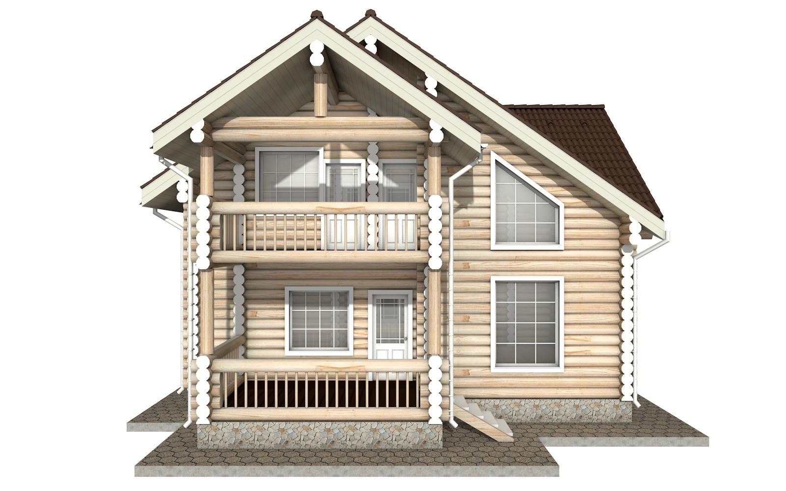 Фото #6: Красивый деревянный дом РС-19 из бревна