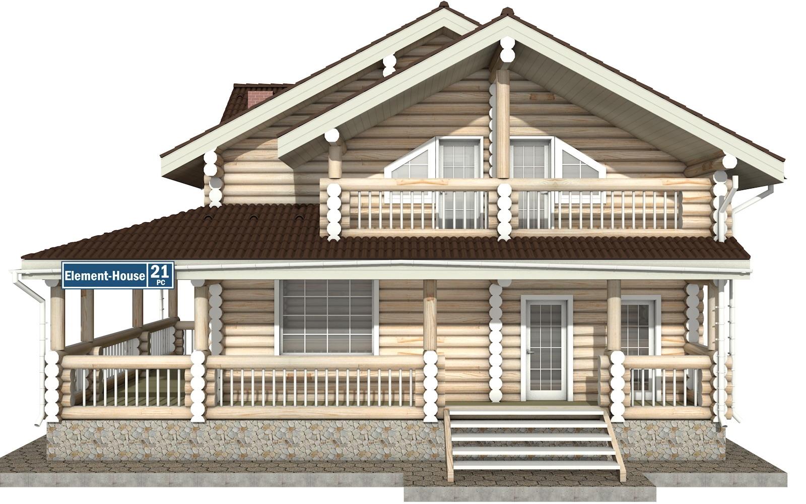 Фото #6: Красивый деревянный дом РС-21 из бревна