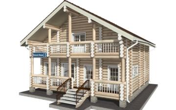 Фото #1: Красивый деревянный дом РС-3 из бревна