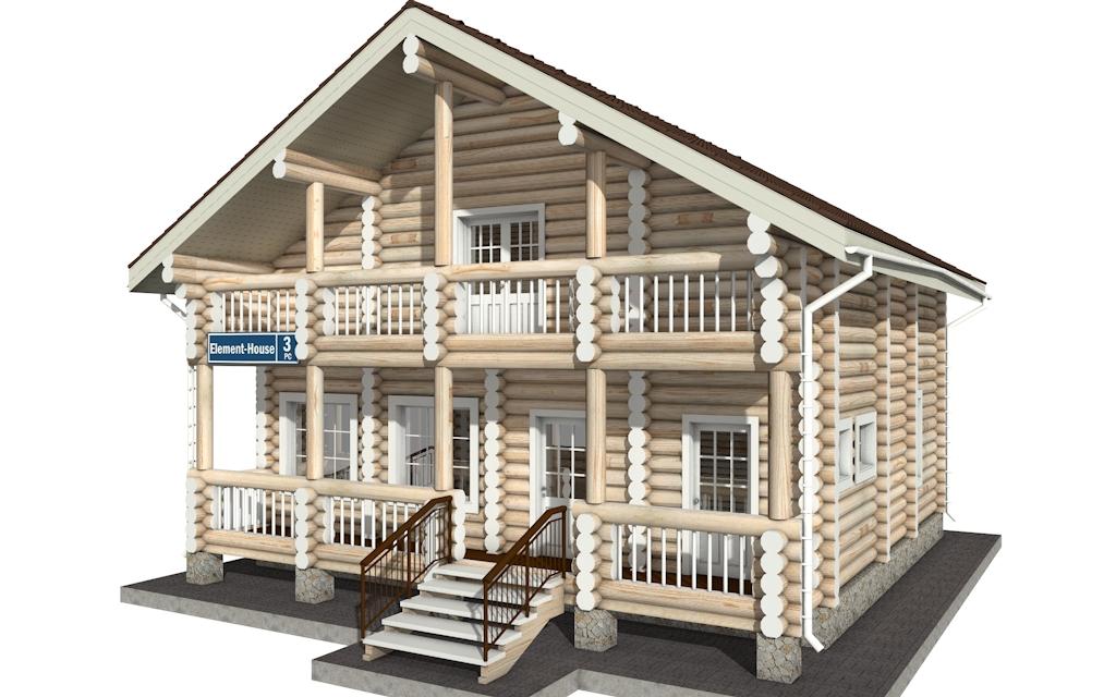 РС-3 - деревянный дома из бревна (из сруба)