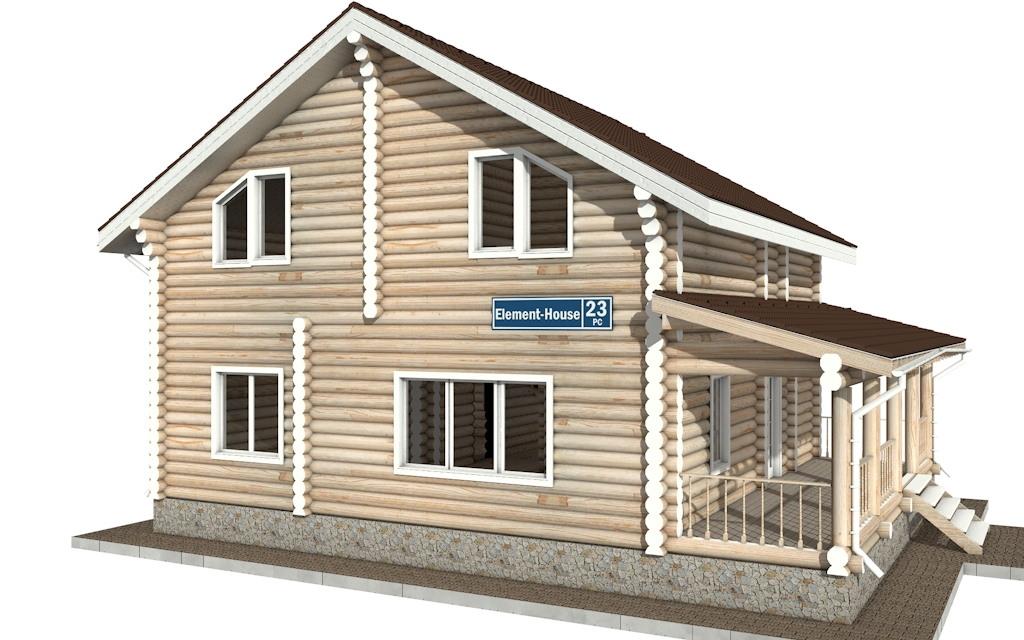 РС-23 - деревянный дома из бревна (из сруба)