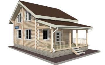 Фото #1: Красивый деревянный дом РС-24 из бревна