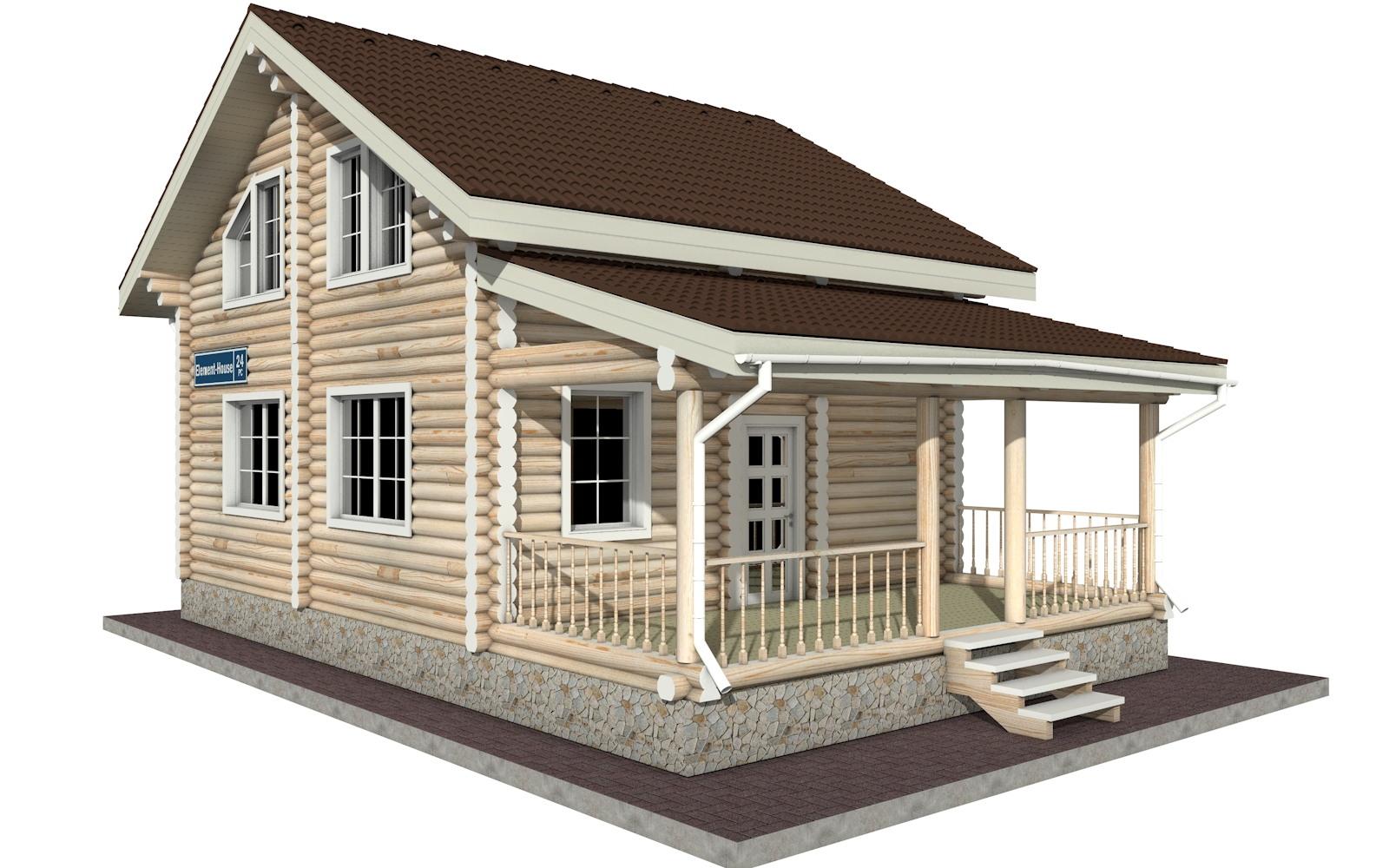 РС-24 - деревянный дома из бревна (из сруба)