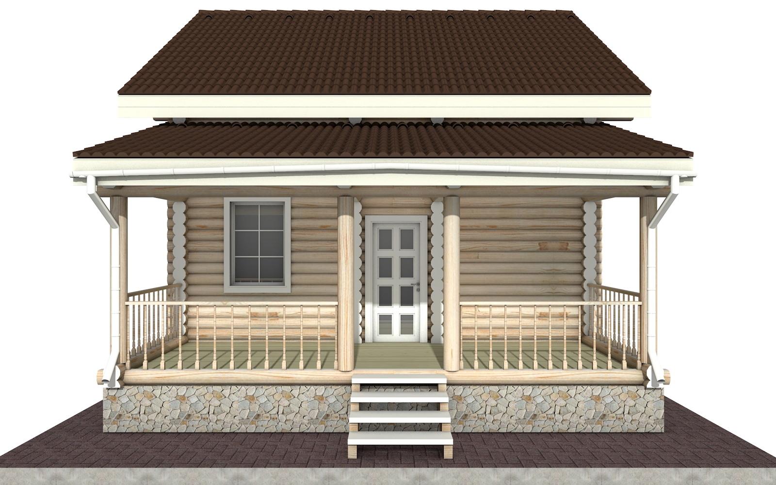 Фото #6: Красивый деревянный дом РС-24 из бревна