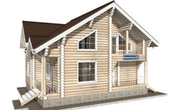 Фото #1: Красивый деревянный дом РС-25 из бревна