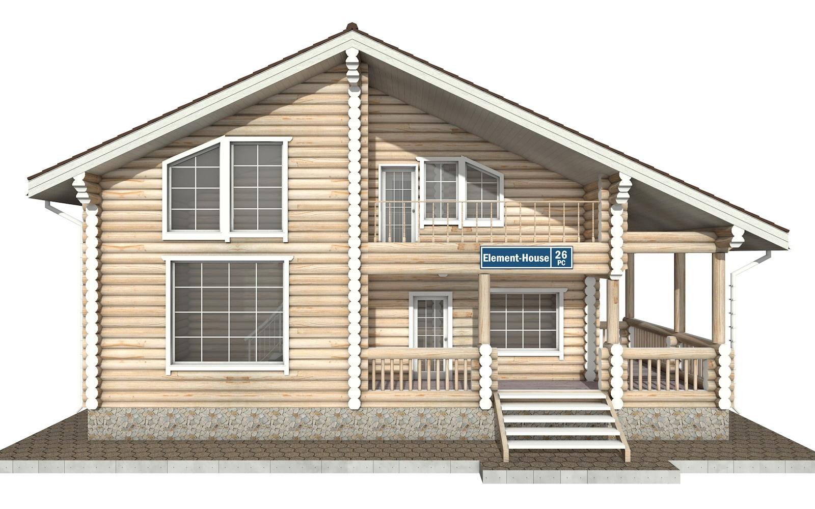 Фото #6: Красивый деревянный дом РС-26 из бревна