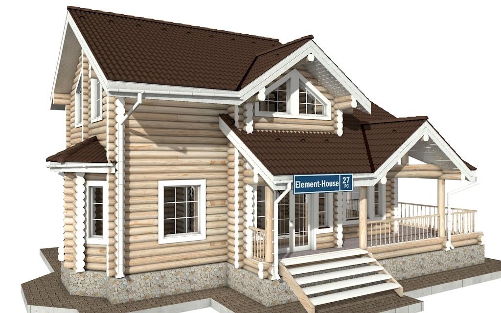 РС-27 - деревянный дома из бревна (из сруба)