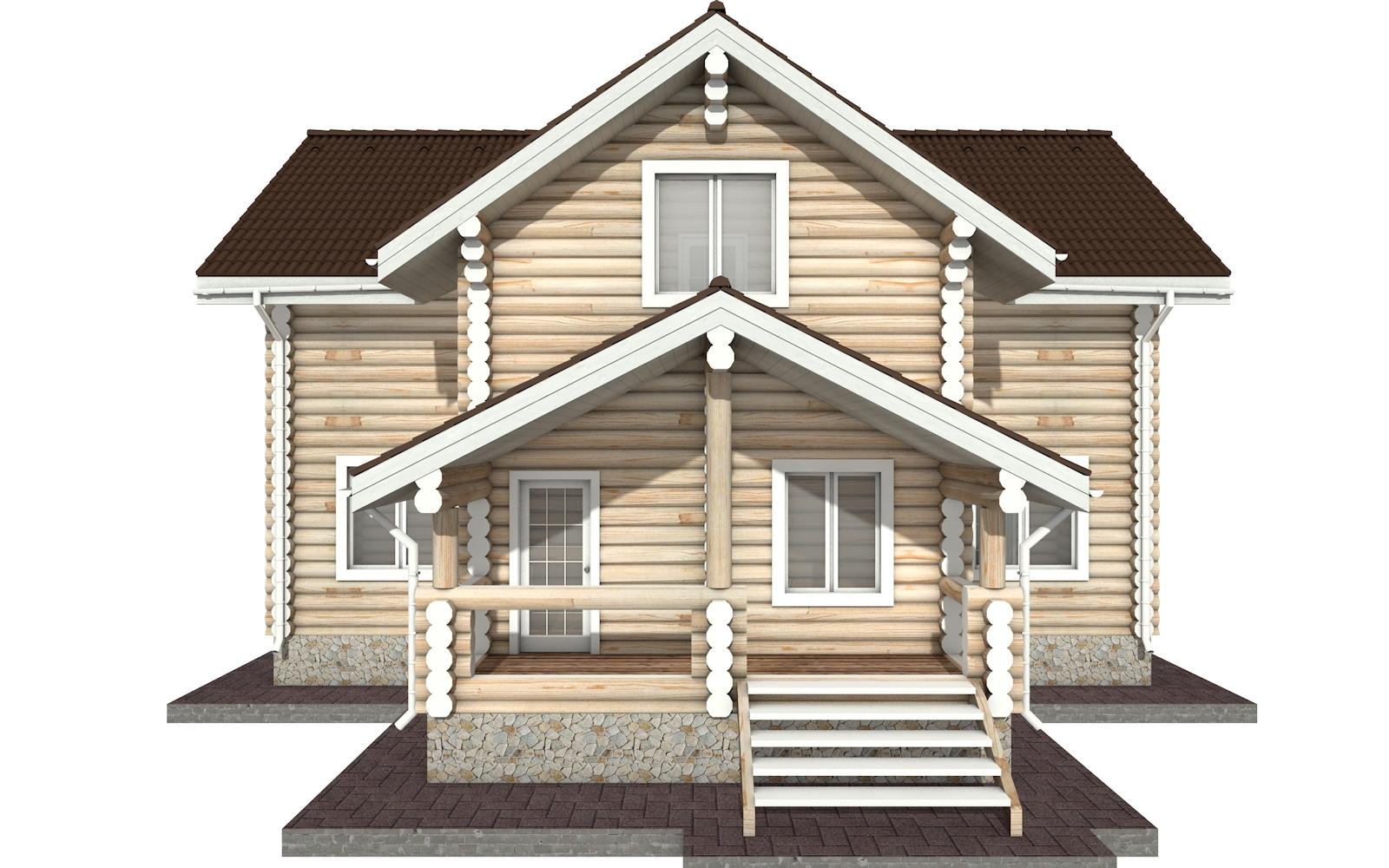 Фото #6: Красивый деревянный дом РС-29 из бревна