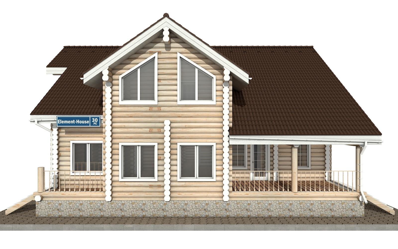 Фото #6: Красивый деревянный дом РС-30 из бревна