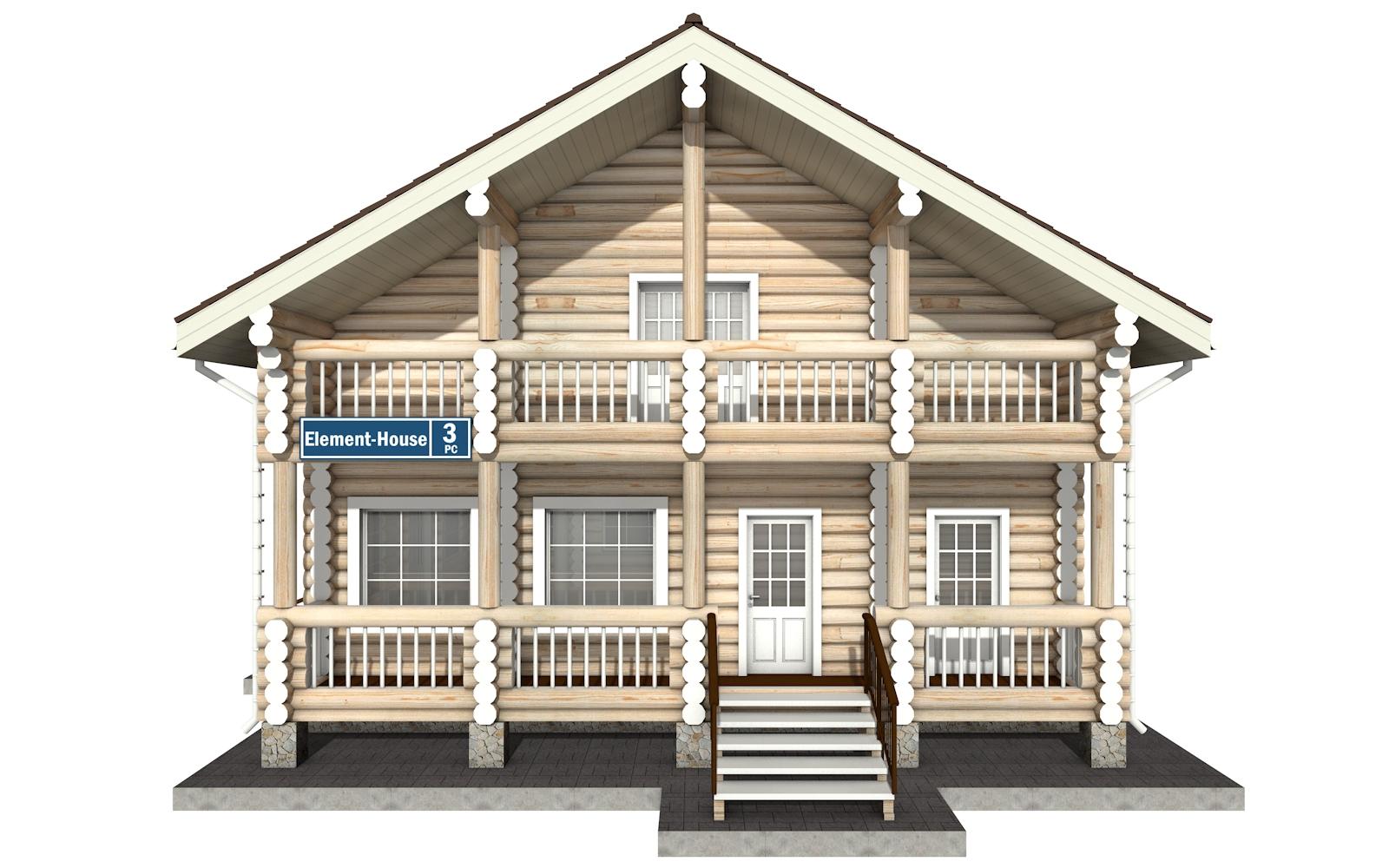 Фото #6: Красивый деревянный дом РС-3 из бревна