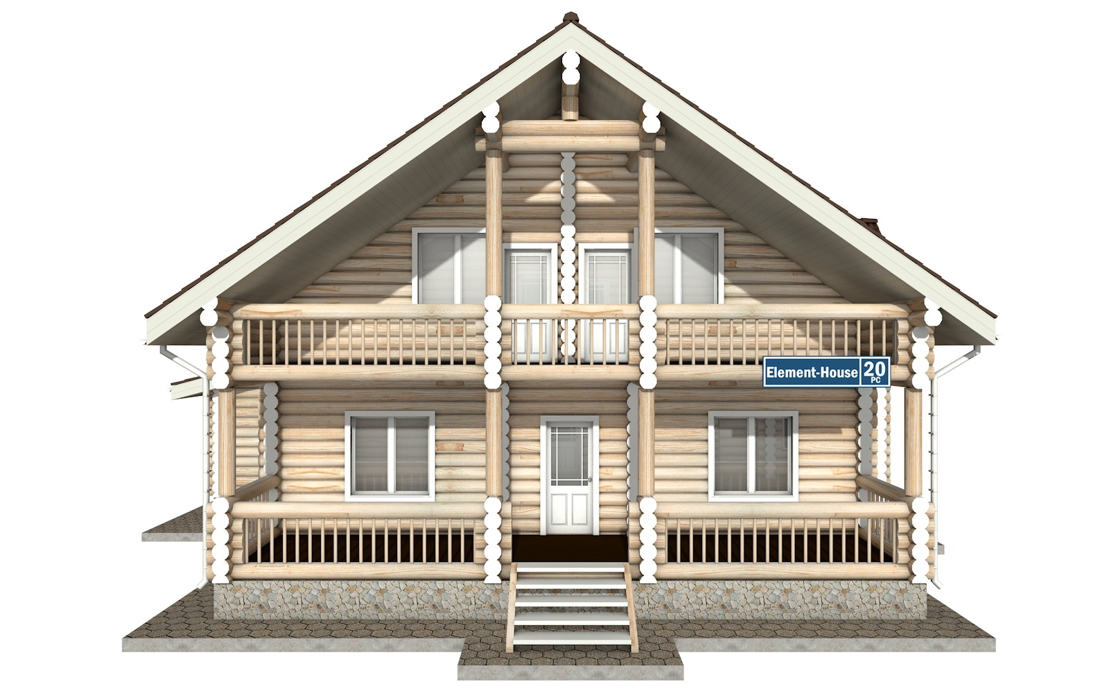Фото #6: Красивый деревянный дом РС-20 из бревна