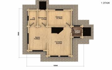 Фото #4: Красивый деревянный дом РС-33 из бревна