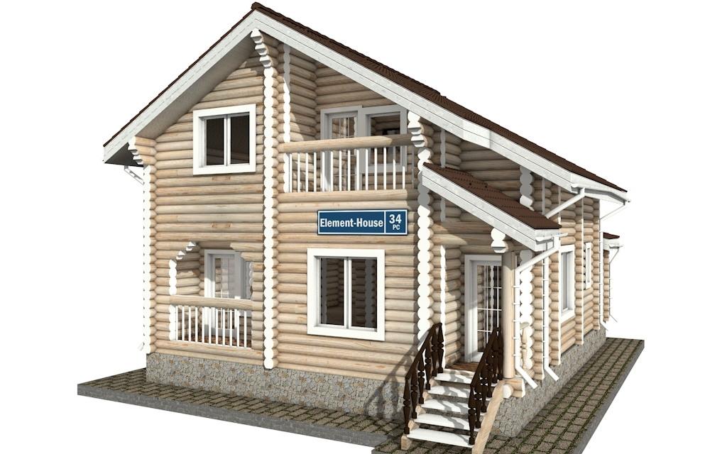 РС-34 - деревянный дома из бревна (из сруба)