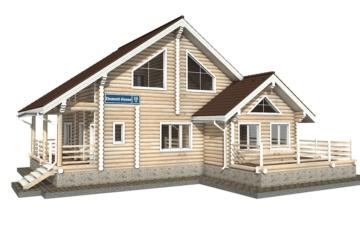 Фото #1: Красивый деревянный дом РС-35 из бревна