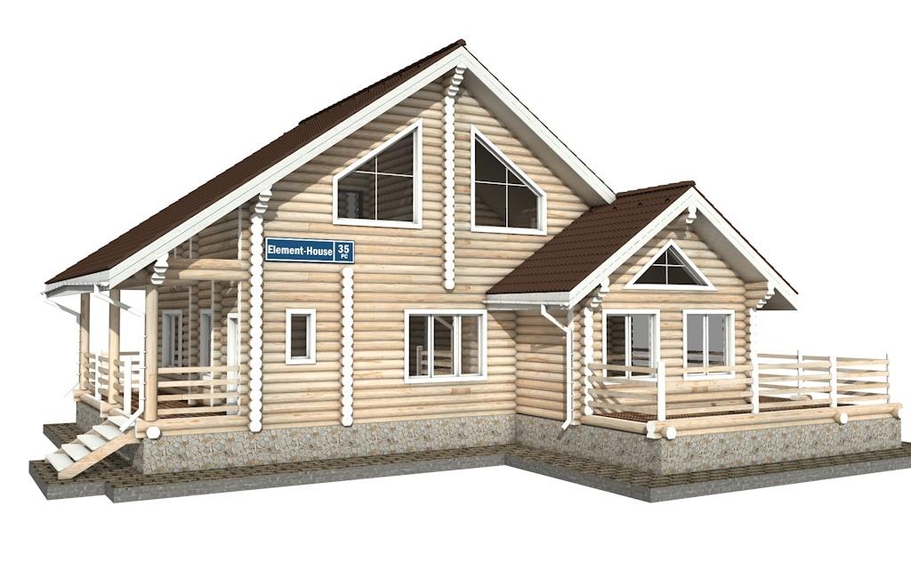 РС-35 - деревянный дома из бревна (из сруба)