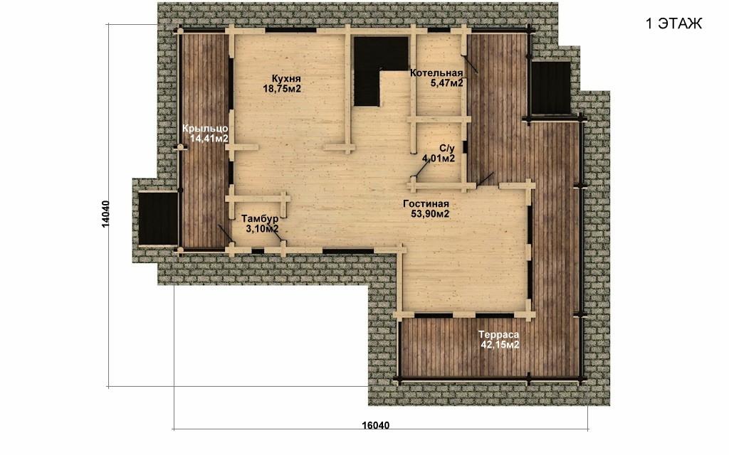 Фото #4: Красивый деревянный дом РС-35 из бревна