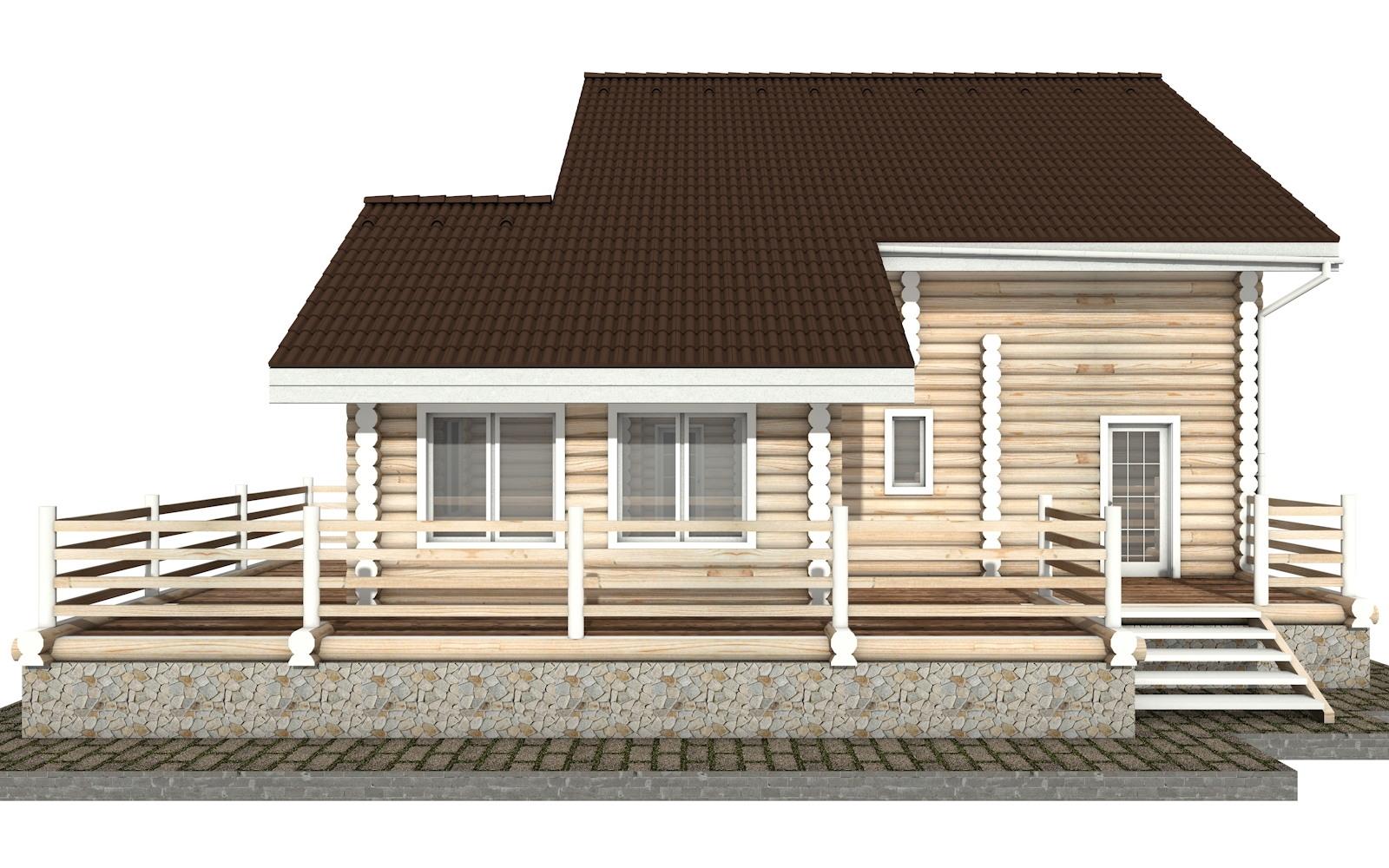 Фото #6: Красивый деревянный дом РС-35 из бревна