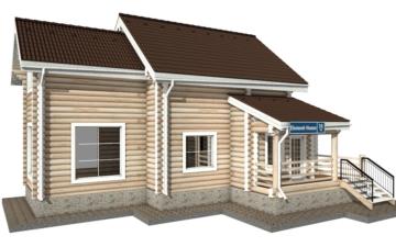 Фото #1: Красивый деревянный дом РС-36 из бревна