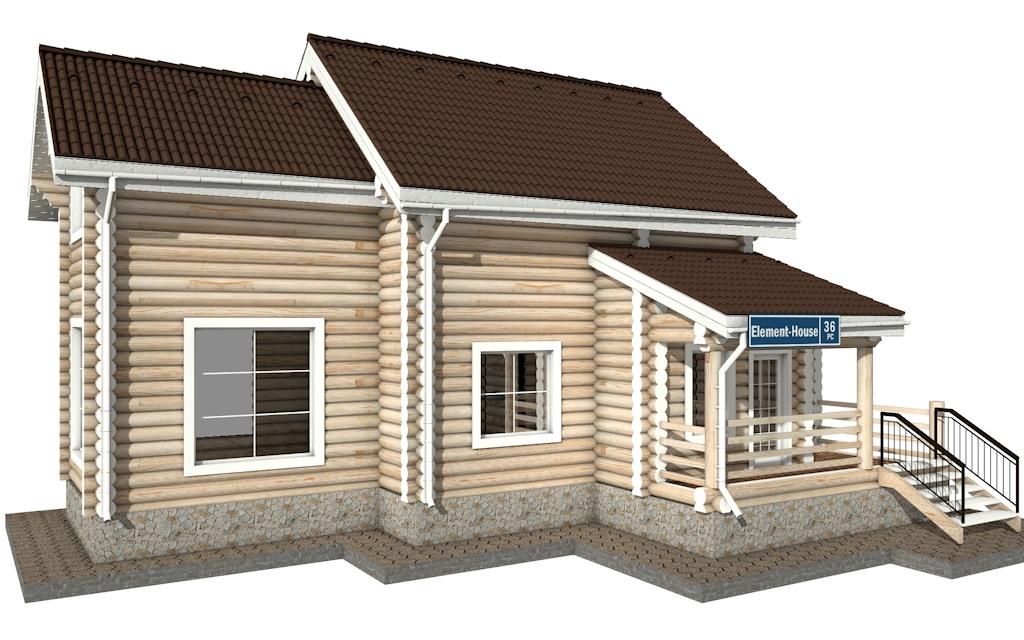 РС-36 - деревянный дома из бревна (из сруба)